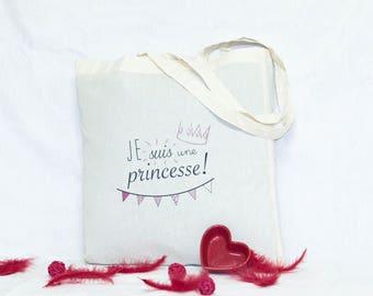 100% cotton Princess tote bag