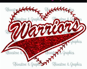 Warriors-Baseball-SVG cut file