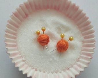 """Needles and ball"" earrings"