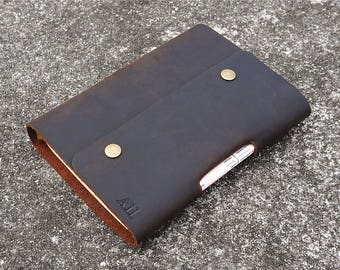 Custom leather Planner, Personalized planner, Engraved monogram leather journal, A6 A5 A4 diary
