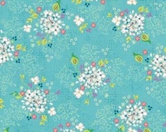 ADORNit Fresh Blossoms Lagoon Cotton Quilting Fabric