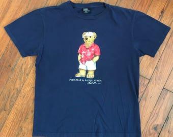 Vintage Vacation Polo Bear T Shirt