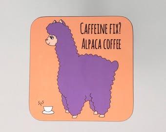 Alpaca Coffee Coaster - Alpaca Gift