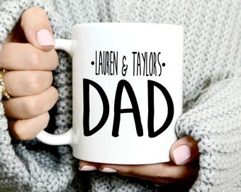 Custom Dad Coffee Mug - New Dad - Father's Day Gift - Gift For Step Dad - Step Father Gift - Dad Mug