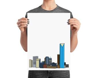 Print- Downtown Oklahoma City Skyline