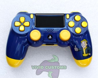 Custom PS4 Controller - Modded Sony PlayStation 4 Pro/Slim Version 2 Dualshock Wireless Pad - Pip-Boy Fallout Mod V2