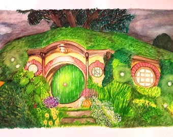 8x10 ARt Print of Bag End