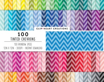 100 tinted chevron paper, Digital paper, Commercial use, chevron, digital chevron paper, digital scrap booking paper, chevron paper