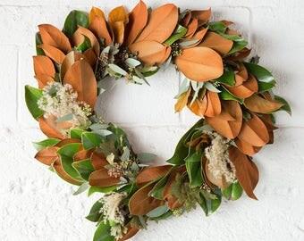 Magnolia and Eucalyptus Wreath | Christmas Wreath | Magnolia Leaf Wreath | Door Wreath | Holiday Wreath | Wreaths for Christmas | Gifts