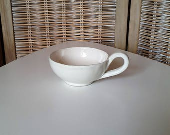 Ceramic cereal Bowl, hanse, earthenware, ceramic gravy boat, gray Bowl ceramic dish gray, MOM, Dad gift,