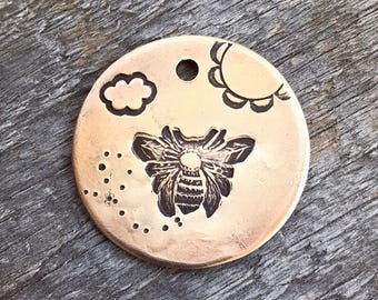 Dog Tag, Honey Bee Dog Tag, Bee Dog Tag, Dog Tags For Dogs, Personalized Dog Tag, Pet Id Tag, Custom Dog Tag, Pet Supplies, Metal Hounds