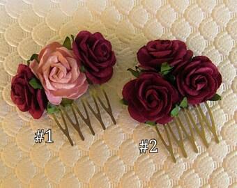 Mini Hair Combs - Wedding Hair Combs, Bridesmaid Hair Combs, Hair Comb Wedding, Flower Girl Hair Clip, Flower Girl Hair Accessories