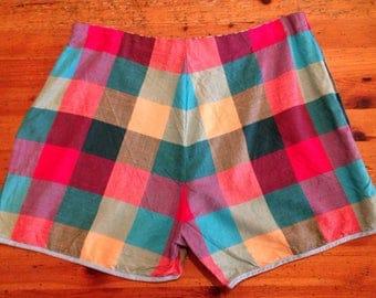 1950s / 60s check cotton shorts