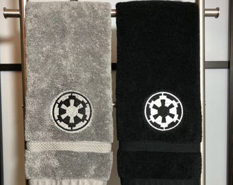 Embroidered Hand Towel - Star Wars Imperial Cog - gym kitchen bathroom