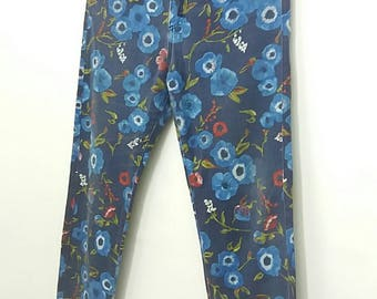 Rare Kenzo Jeans floral printed pants/waist 29/30/made in france