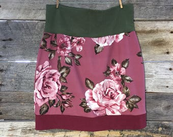 """Ready to ship * skirt woman """"BOHEMIAN"""" background - black Polyester and bamboo - size Small - Medium (SM)"""