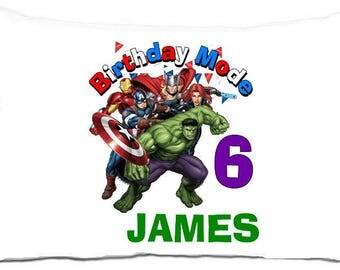 Avengers birthday mode standard pillowcase