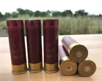 SPECIAL LOT*** Empty Shotgun Shells 5 Lot Deep Red with Brass Base Federal 2.75'' 12 Gauge