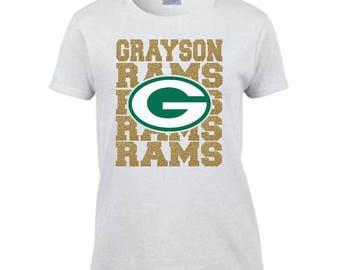 Custom Apparel- Team Spirit Football T- Shirt DES184