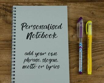 Personalised Bullet Journal, Personalised BUJO, Dot Grid Notepad, Dot Grid Journal, Stationery Gift, Custom Notebook, Handwriting Style