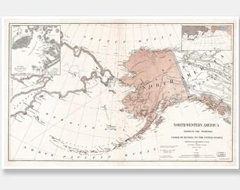 Alaska Poster, Alaska, Alaska Decor, Alaska Art, Alaska Gift, Alaska Print, Alaska Wall Art, Alaska Map, Alaska Sate, Alaska Art Print, 133