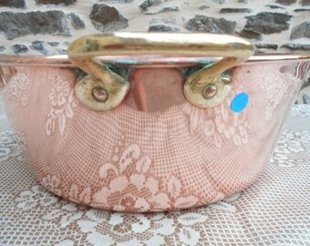 Vintage French COPPER Jam Pot. (B)