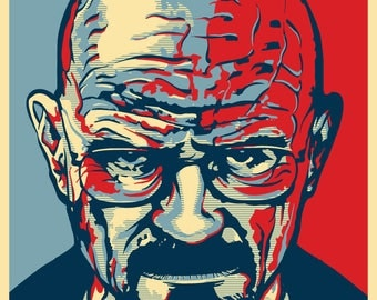 """HEISENBERG 2020 """"HOPE"""" Style Election Posters - 11""""x17"""" - Walter White """"Breaking Bad"""""""