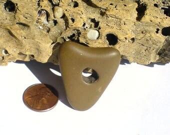 Unique rare genuine sea beach stone pebble rock with natural hole. Heart 37x31x9mm
