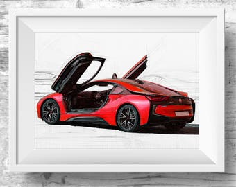 red bmw etsy. Black Bedroom Furniture Sets. Home Design Ideas