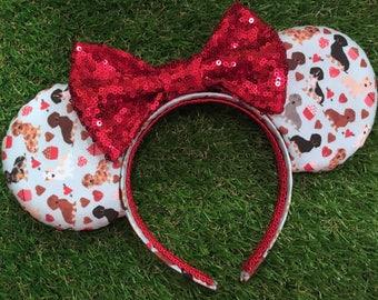 Dachshund Valentine Mouse Ears