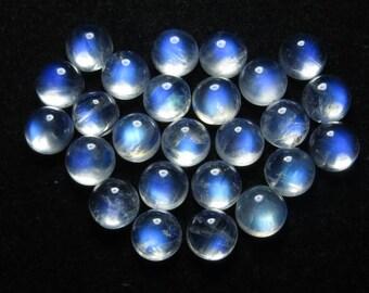 High Quality Rainbow Moonstone Blue Fire Cabochon Round Size 8 mm - 25 pcs 59.50 Crts