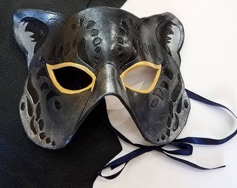 Leather Panther Jaguar Mask- Made to Order