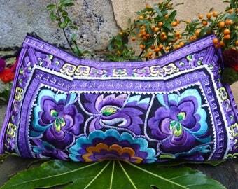 Embroidered Thai bag, boho bag, Hmong bag, hippie bag, shoulder bag, crossbody bag, bohemian purse