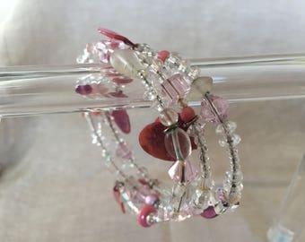 Pink Memory Wire Bangle