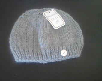 Gray newborn baby bonnet