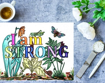 Positivity Coloring Pages SET #1 - 3 Single Page Instant Download & Printable PDF files