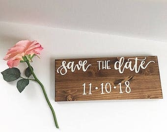 Save the date sign engagement sign engagement photo prop sign wedding date sign save the date announcement save the date pictures engagement