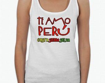 Te Amo Peru Costa Sierra y Selva T-Shirt Tank Top Women Girls