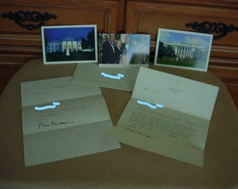 SIGNED White House Letters President BILL CLINTON Auto pen Autograph