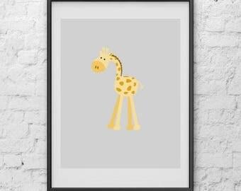 20%off Giraffe Nursery Print, Art Print, Print Art, Digital Print, Poster, Nursery Print, Minimalist Poster, Poster Art, Poster Print, Art P