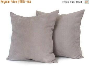 20% off Gray Pillow, Greige Velvet Pillow, Grey Beige Velvet PIllow, Grey Velvet Pillow, Beige Velvet Pillow, Greige Bed Pillow