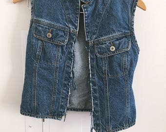 New Year SALE! 10% OFF!Denim Vest