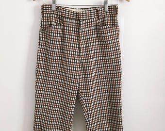 1970s Men's Checkered Pants