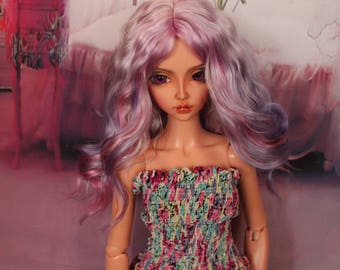Multicolor Angora Wig for FeePle60  and similar size SD dolls head