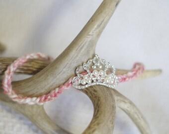 Newborn Headband Tiara - Pink - Newborn Photo Prop - Crown