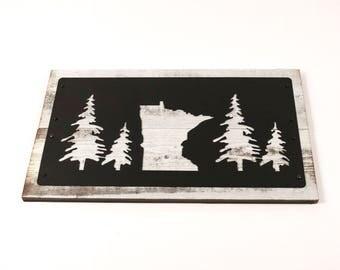 Minnesota Sign / Minnesota Wall Decor / Minnesota Wood Sign / Minnesota Decor / Minnesota Metal Sign / MN Gift Ideas / MN Pine Tree