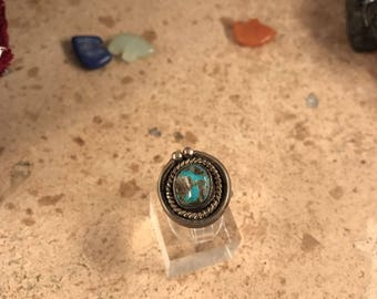 Vintage Navajo Turquoise & Sterling Silver Ring Size 6
