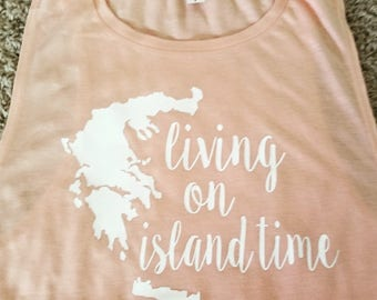 Living Island Time Muscle Tank