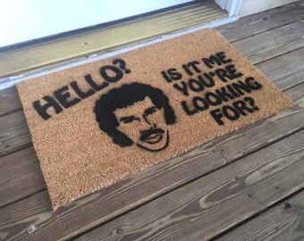 Hello Is It Me You're Looking For - Lionel Richie Door Mat