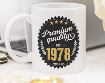 Birthday mug, beautiful gift for 40th birthday